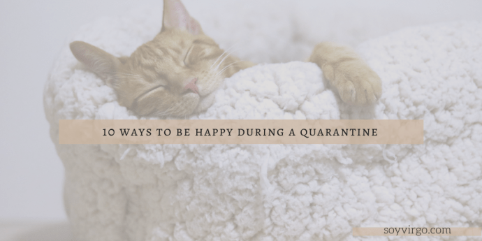 10 ways to be happy during a quarantine | soyvirgo.com - lovely cat lovers blog header