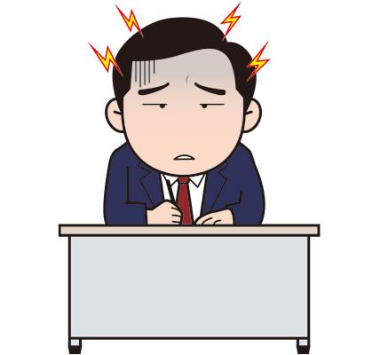 頭痛サラリーマンのイラスト