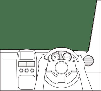 一人称視点の運転席イラスト