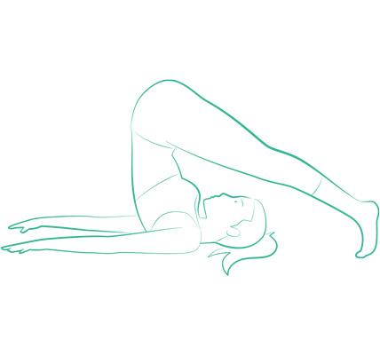 ヨガ「鋤のポーズ」のイラスト