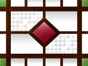 レトロな窓枠