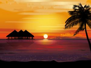 南の島の夕暮れ