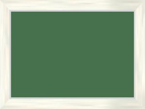 白い木枠のフレーム