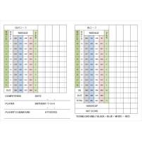 ゴルフ スコアカード(カラー・A4)