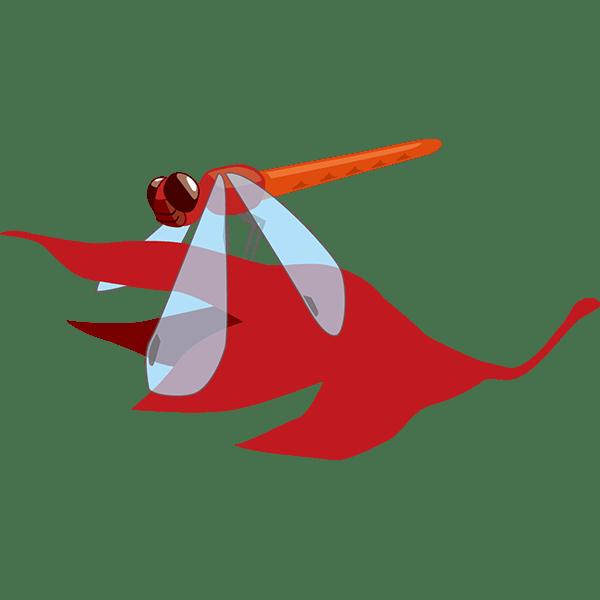 年中行事 もみじと赤トンボ(カラー)