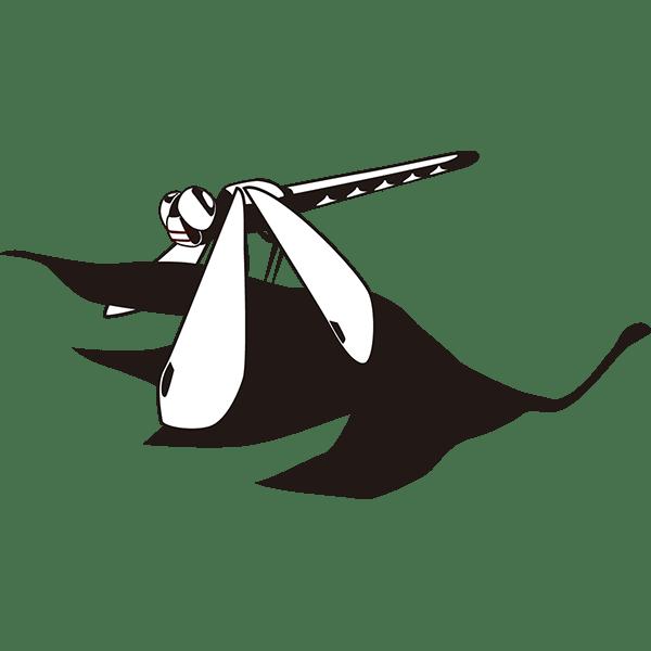 年中行事 もみじと赤トンボ(モノクロ)