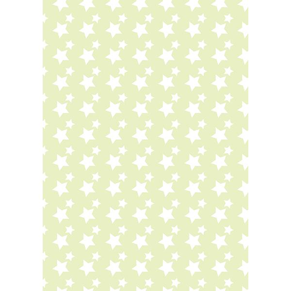 背景画像 星柄(白×グリーン)(カラー)