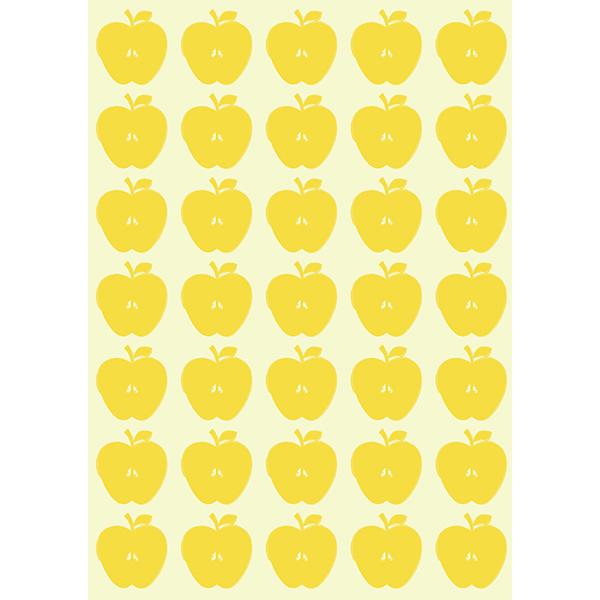 背景画像 黄色の小さめのりんご柄(カラー)