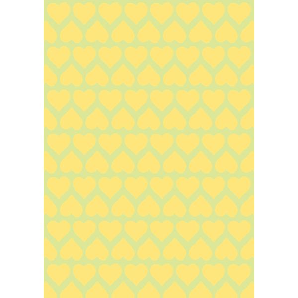 背景画像 黄色のハート柄(カラー)