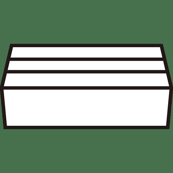 ビジネス 梱包された段ボール(モノクロ)