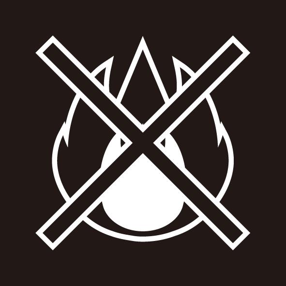 ビジネス 火気厳禁シール(モノクロ)