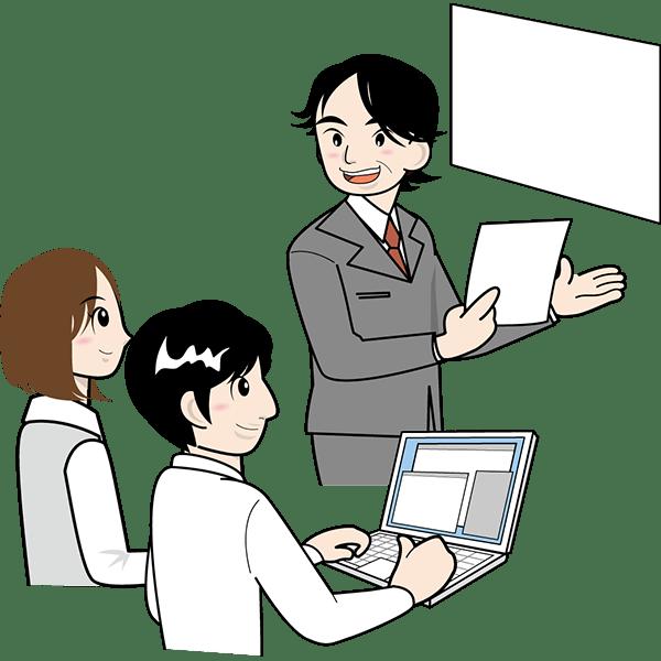 人物 会議をする人々ミーティングカラー 無料イラスト
