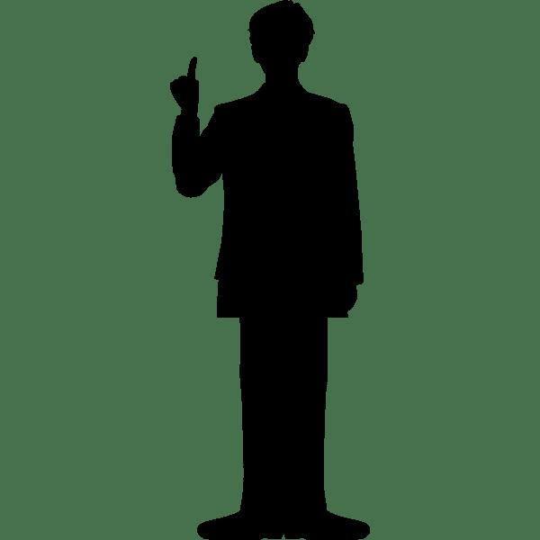 人物 ビジネスマンシルエットモノクロ 無料イラスト