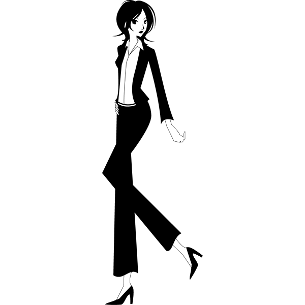 人物 ビジネスウーマン(モノクロ)