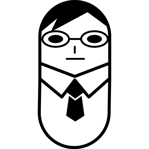 人物 ビジネスマン・アイコン(モノクロ)