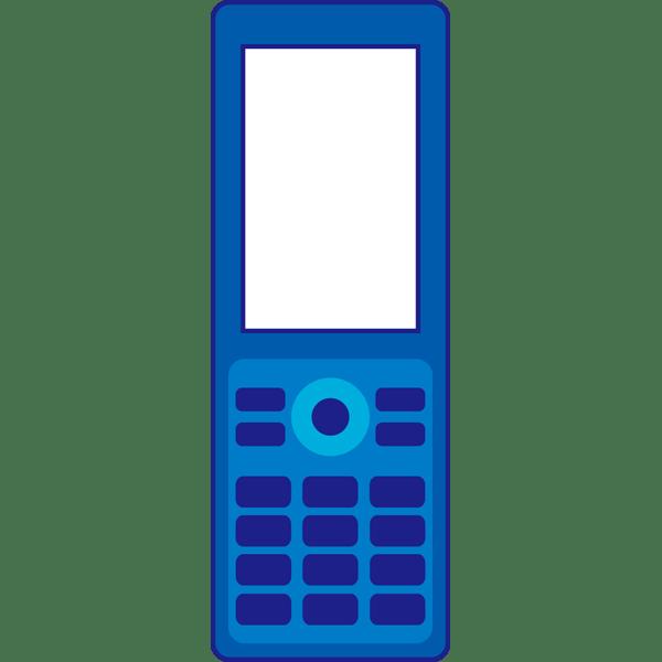 ビジネス 携帯電話青カラー 無料イラストpowerpoint