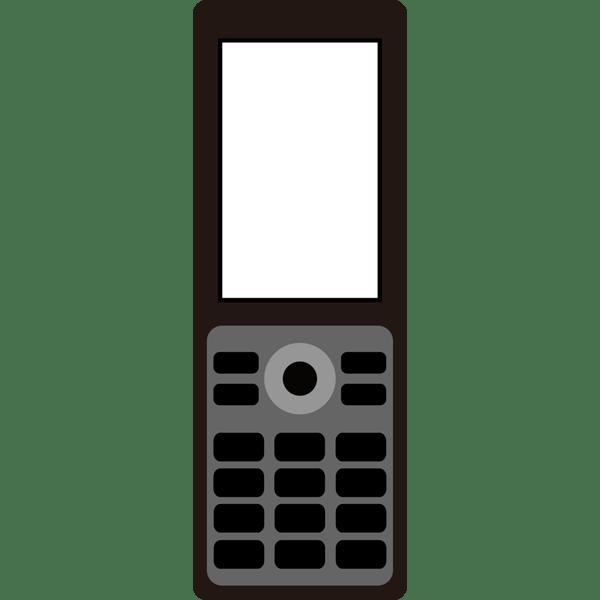 ビジネス 携帯電話(黒)(カラー)