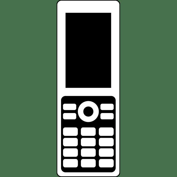 ビジネス 携帯電話(モノクロ)