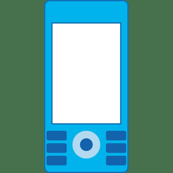 ビジネス 携帯電話(青)(カラー)
