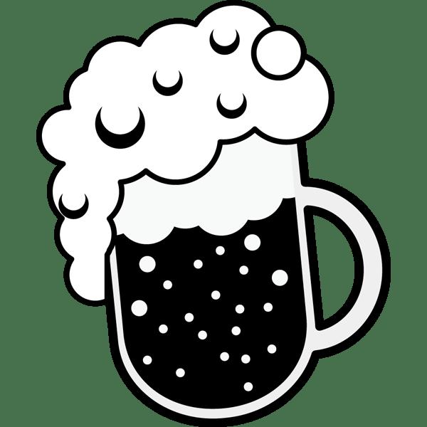 食品 ビール(生ビール)(モノクロ)