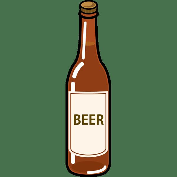食品 ビール(瓶ビール)(カラー)