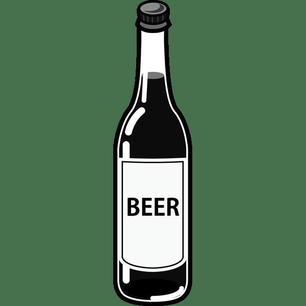 食品 ビール(瓶ビール)(モノクロ)