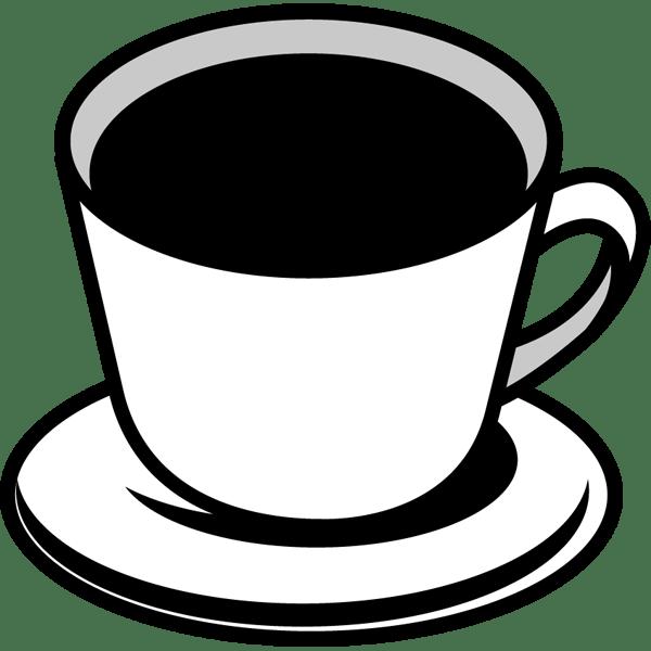 食品 コーヒー(モノクロ)