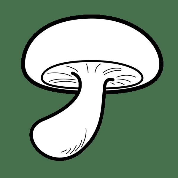 食品 きのこ(しいたけ)(モノクロ)