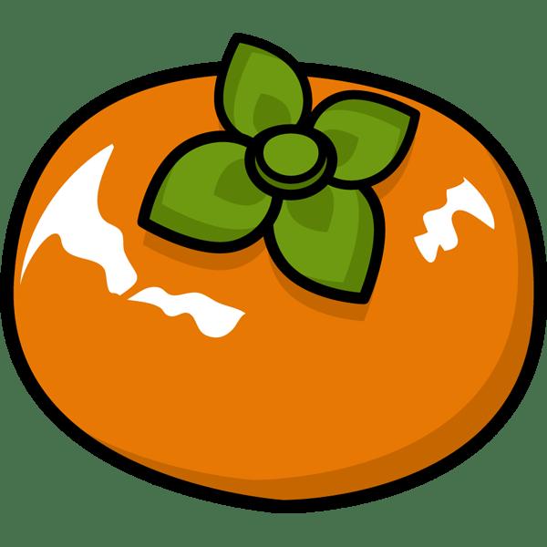 食品 柿カキカラー 無料イラストpowerpointテンプレート配布