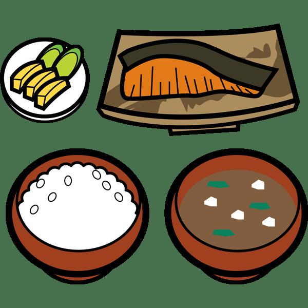 食品 和食(焼き鮭定食)(カラー)