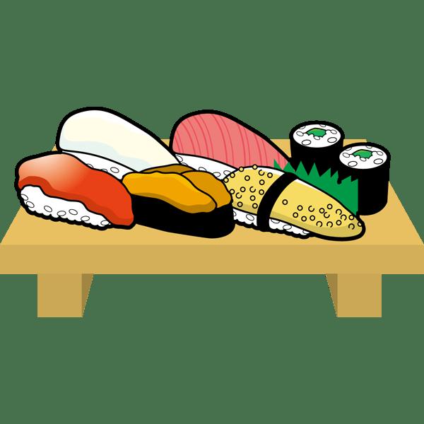 食品 寿司(寿司の盛り合わせ)(カラー)