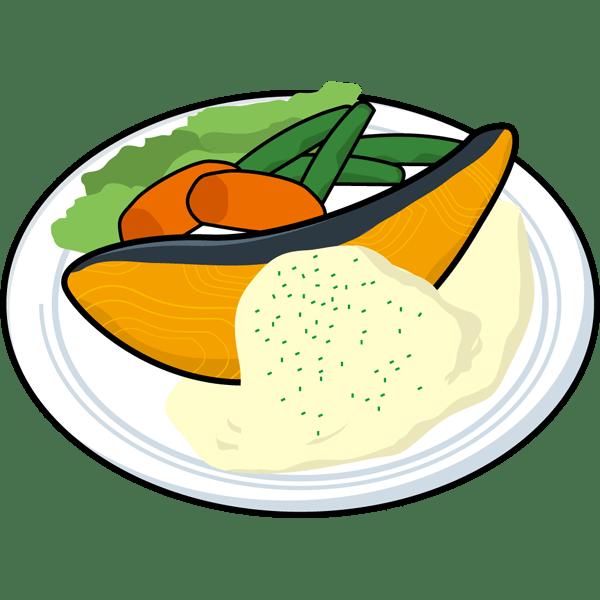 食品 ムニエル(鮭のムニエル)(カラー)
