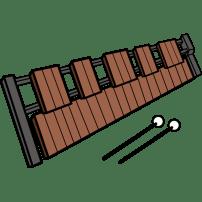 音楽 木琴(カラー)