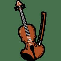 音楽 バイオリン(カラー)