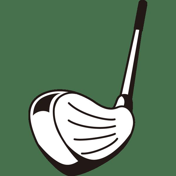 ゴルフ アイアン(モノクロ)