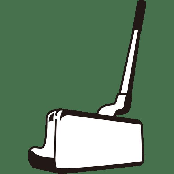 ゴルフ パター(モノクロ)