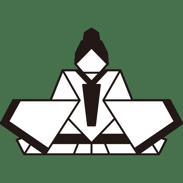 年中行事 雛人形(お内裏さま・折り紙)(モノクロ)