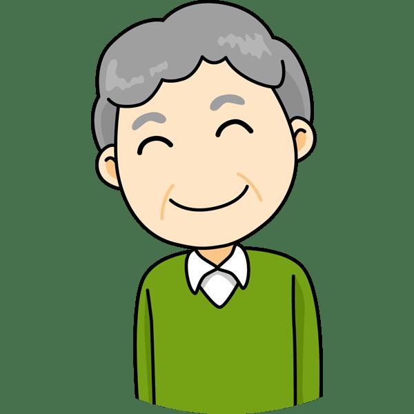 人物 おじさん(笑顔)(カラー)
