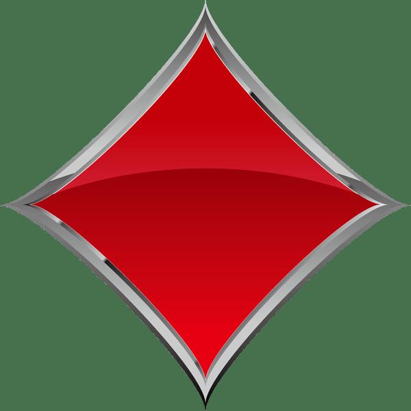 装飾 ダイヤ(赤いダイヤマーク)(カラー)