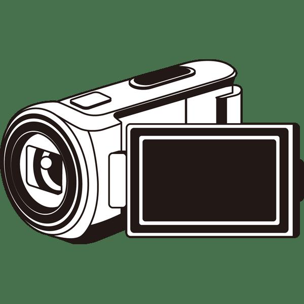 家庭生活 ビデオカメラモノクロ 無料イラストpowerpoint