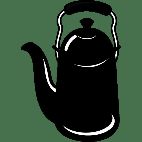 家庭・生活 ポット(モノクロ)
