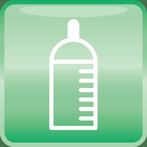 医療 哺乳瓶アイコン(カラー)