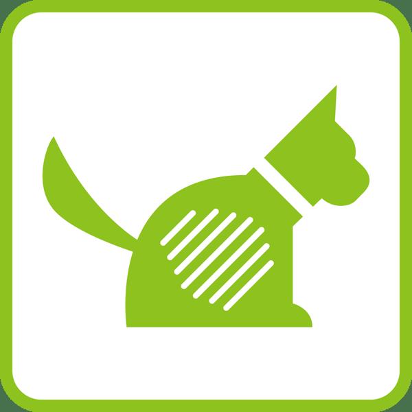 医療 犬アイコン(レントゲン風)(カラー)