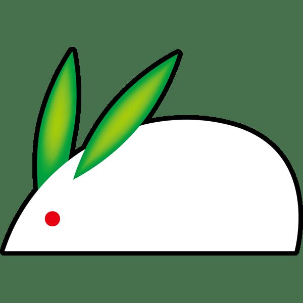 年中行事 うさぎ(カラー)