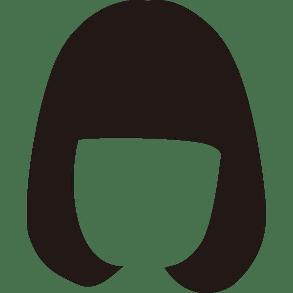装飾 かつら(おかっぱ)(カラー)
