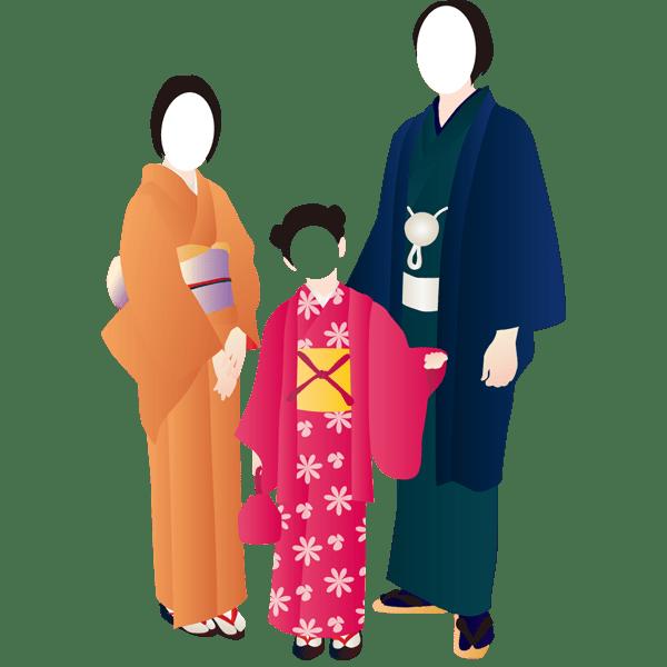 装飾 和装(着物・家族)(カラー)