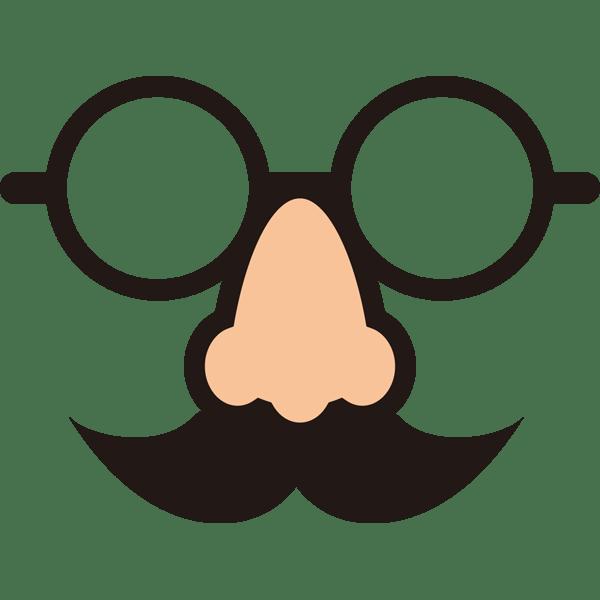 装飾 鼻メガネ(カラー)