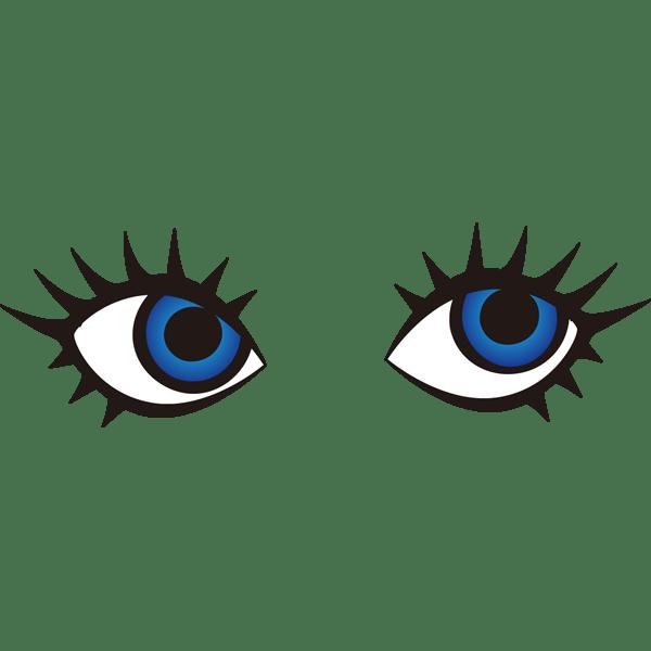 装飾 目(ブルーの瞳)(カラー)