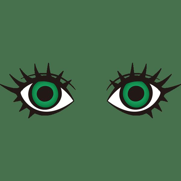 装飾 目(グリーンの瞳)(カラー)