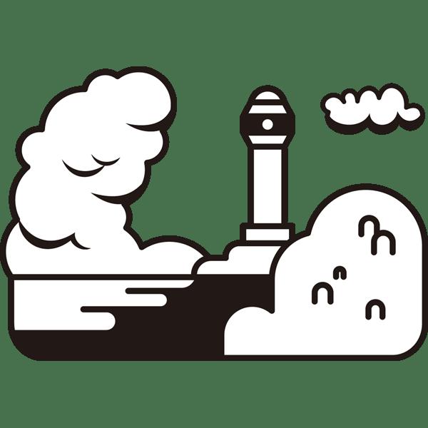 自然 海(灯台)(モノクロ)